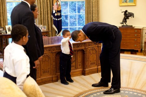Obama and Child Adorable